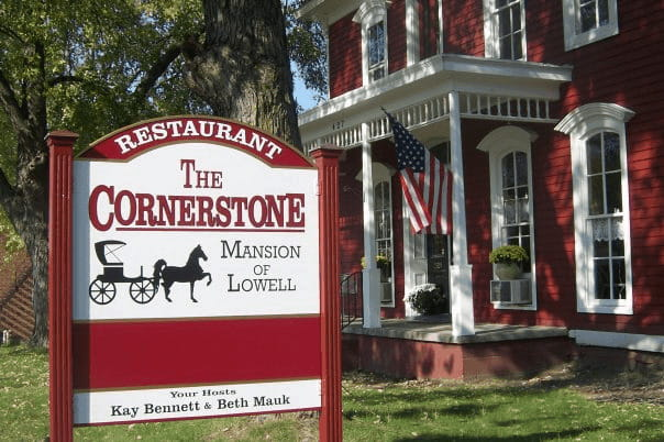 The Cornerstone Mansion Restaurant in Lowell, Indiana