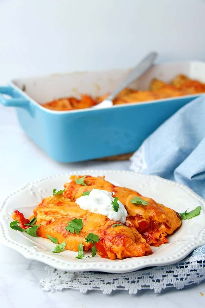 The America's Test Kitchen Chicken Enchiladas recipe is foolproof because it's been tested over and over. It is easy to make and delicious!