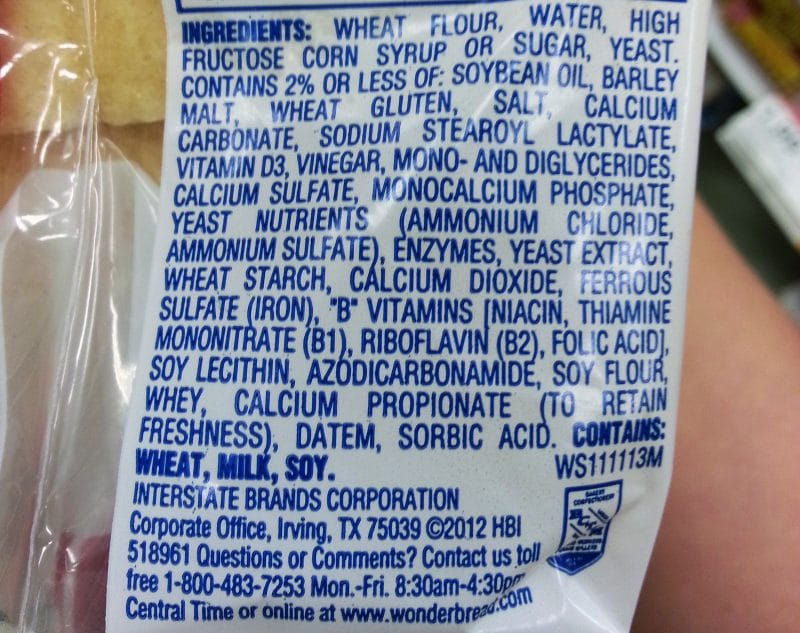 Wonder Bread Ingredients