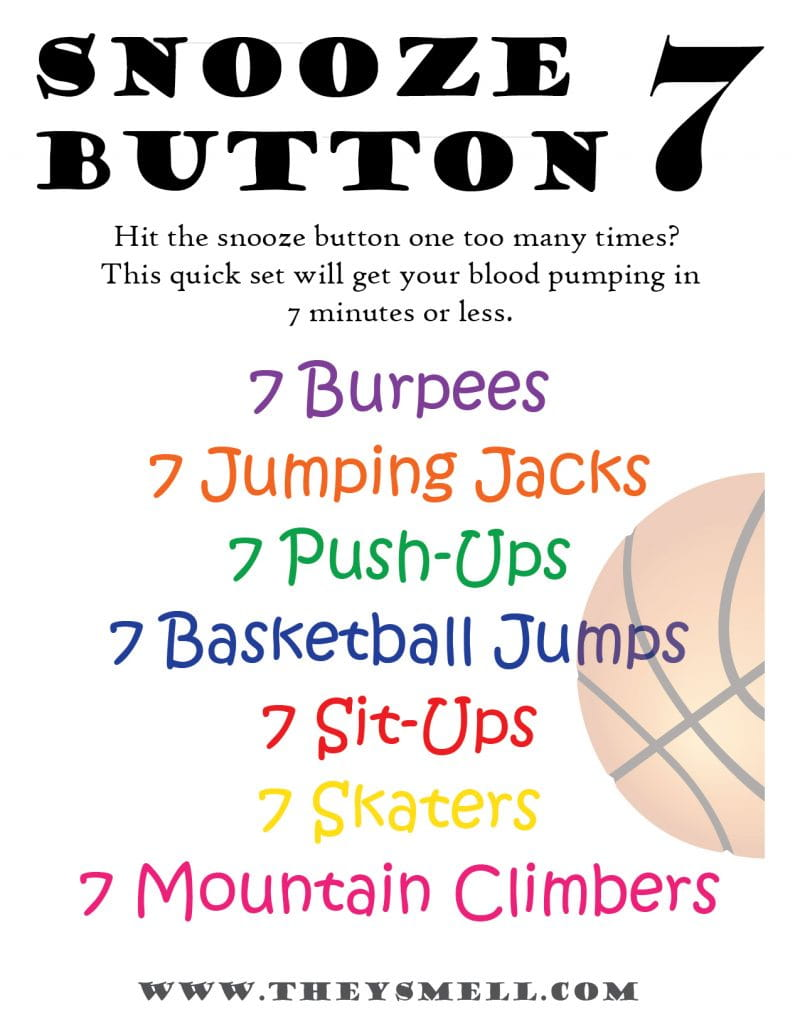 Snooze Button 7 Quick Workout