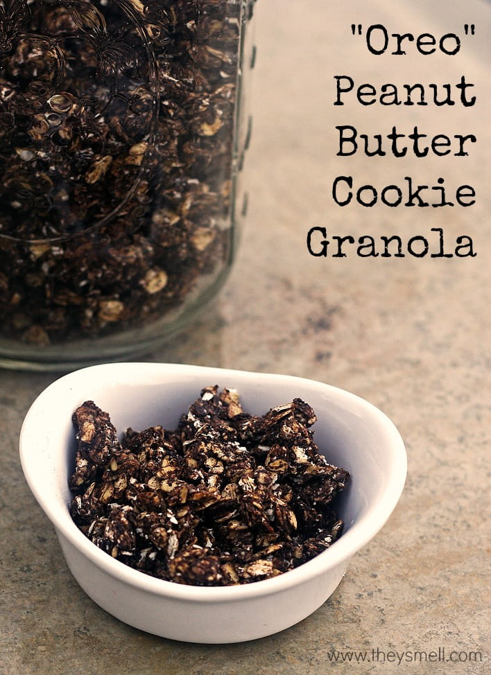 oreo peanut butter cookie granola