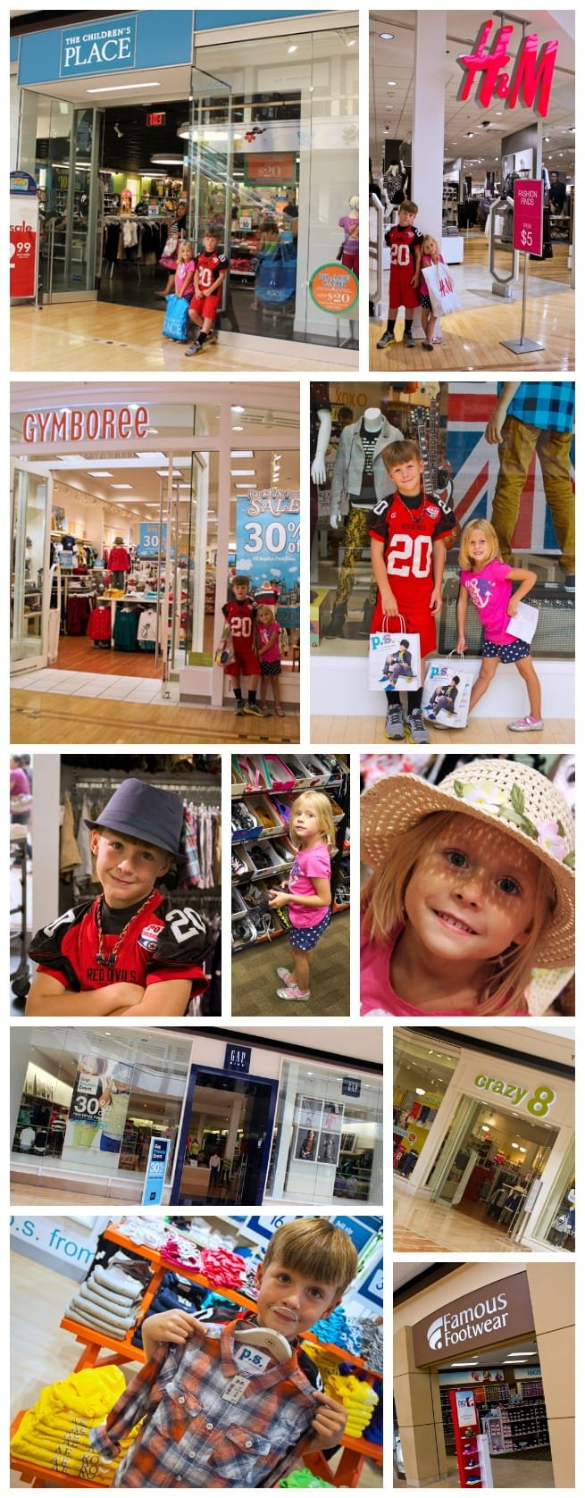Fox Valley mall back to school shopping