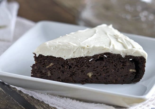 Chocolate Beet Cake with Maple Frosting