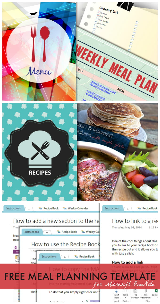 Meal Planning Template - download this FREE meal planning template for Microsoft OneNote