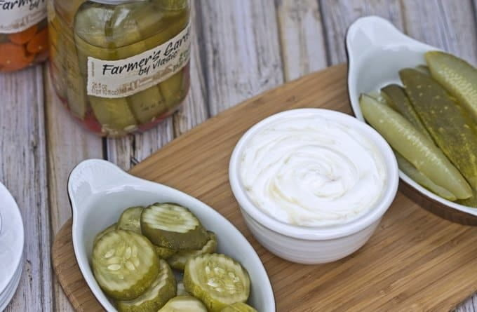 Dill Pickle Dip with Honey and Sour Cream