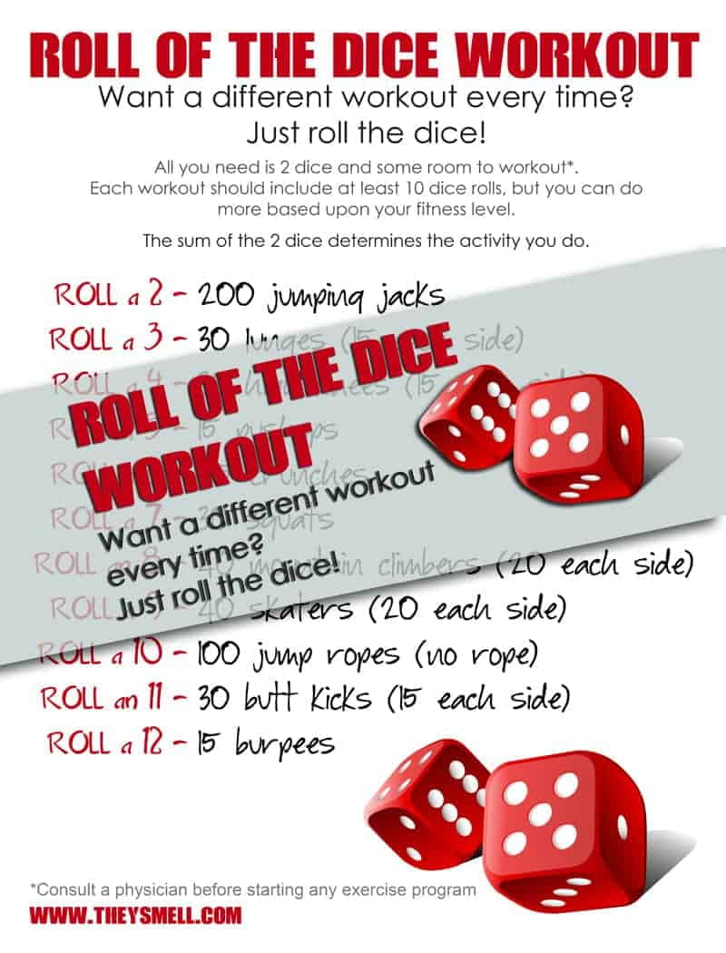 Roll of the Dice Workout - a different workout every time!