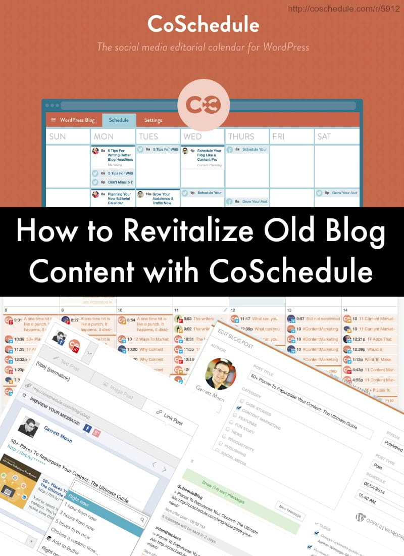 How to Revitalize Old Blog Content with CoSchedule