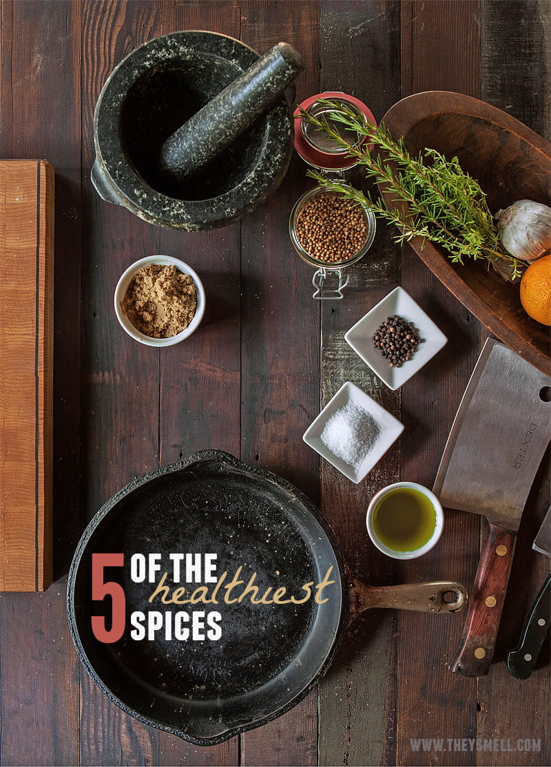 5 of the Healthiest Spices - spices do more than flavor your food. From lowering cancer risks and boosting your immune system to pain relief and weight loss, spices can help improve your health.