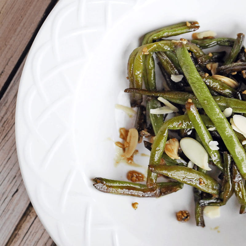 Asian Green Beans with Honey & Garlic Sauce