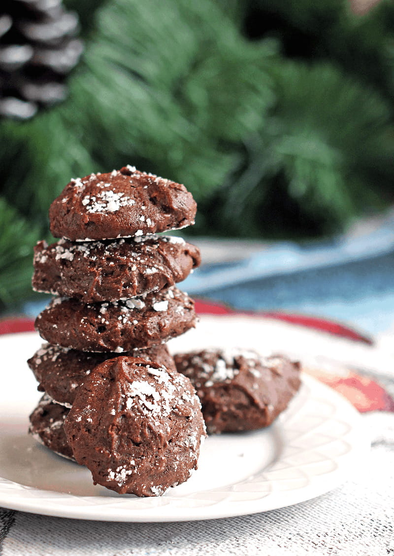 Peppermint Hot Chocolate Cookies – Gluten Free