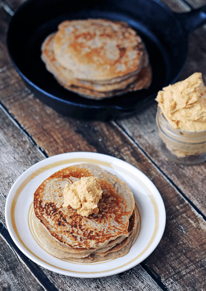 Maple Vanilla Pancakes with Pumpkin Butter