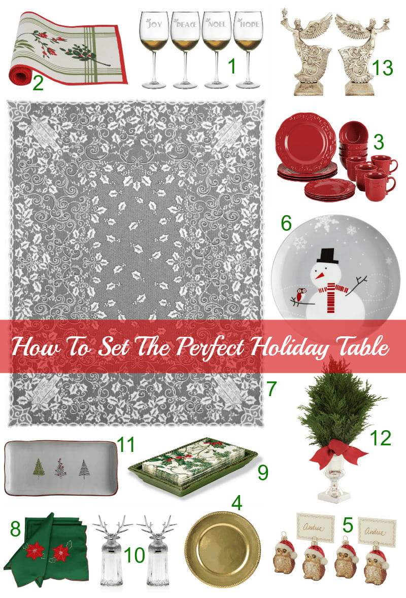 How to set the perfect holiday table.