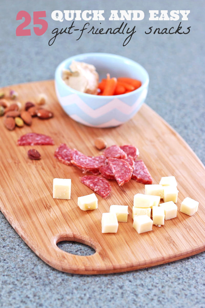 25 Quick & Easy Gut-Friendly snack ideas. These snack ideas are low carb and will boost your metabolism to help you lose weight.