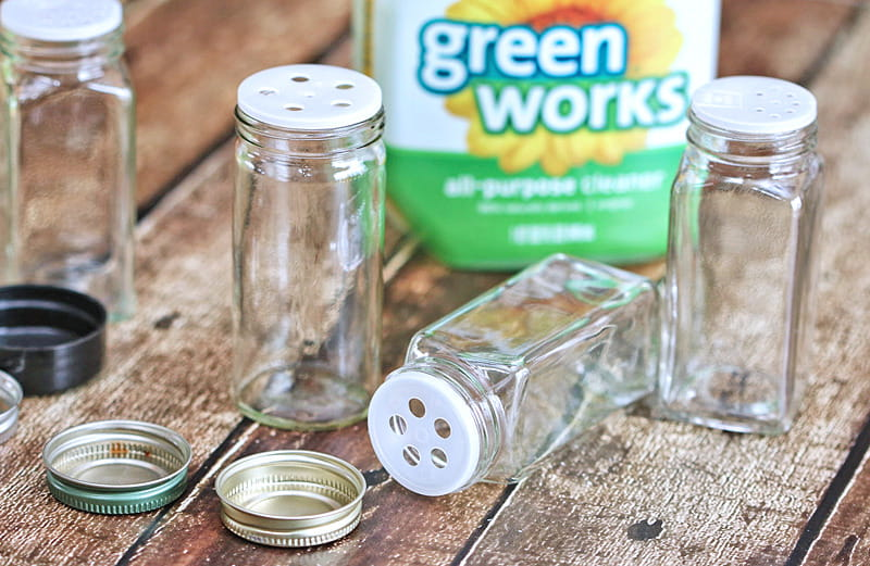 DIY Upcycled Spice Jar Air Freshener - this easy to make DIY air freshener is a green work of art that anyone can make.