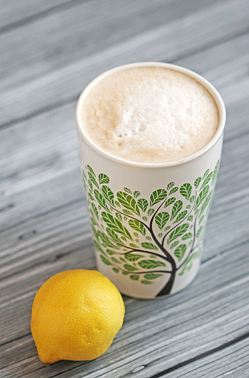 Vanilla Lemon Soy Latte - make this unique but delicious combination right at home!