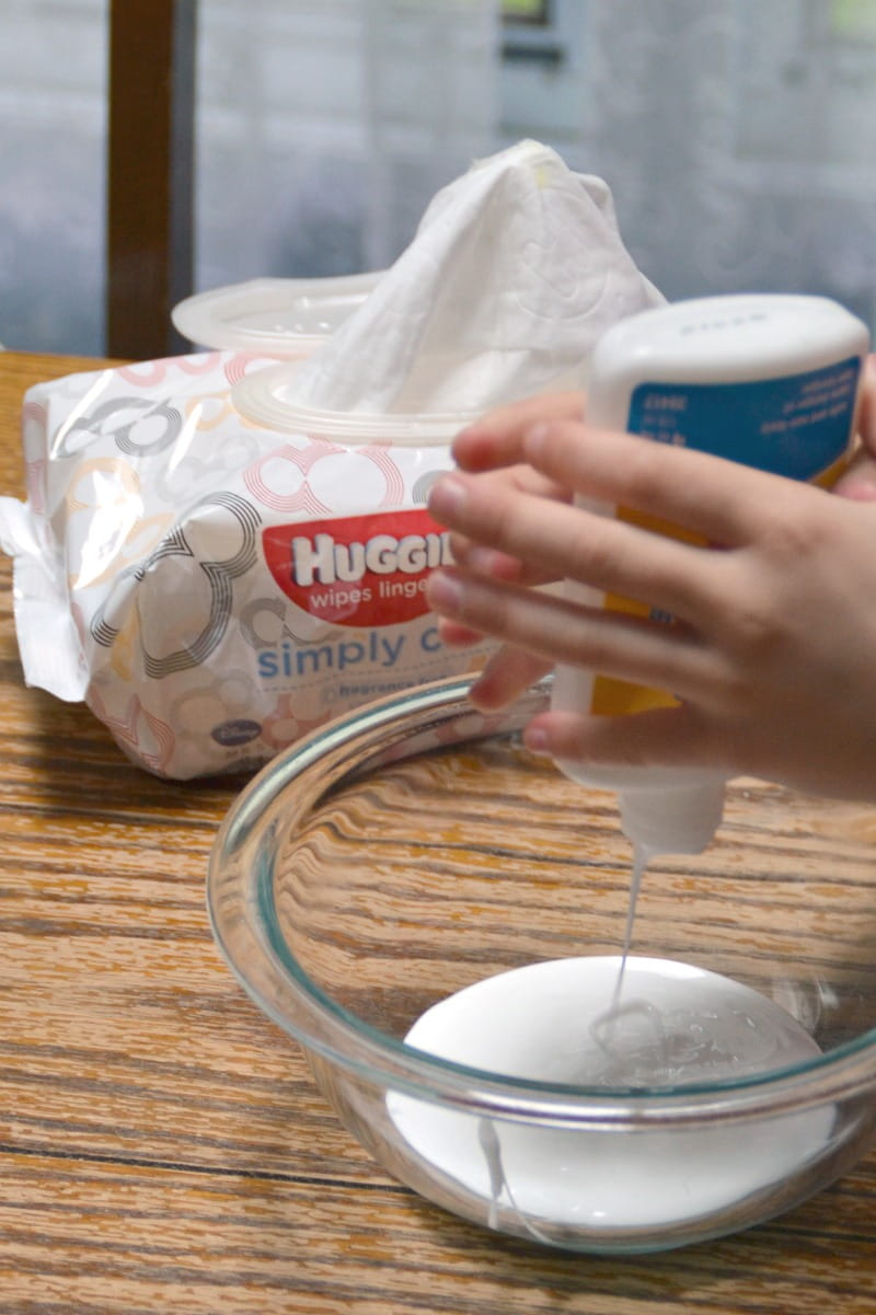 Make your own play goo (aka Gak) at home with a few very easy ingredients you probably already have at home!