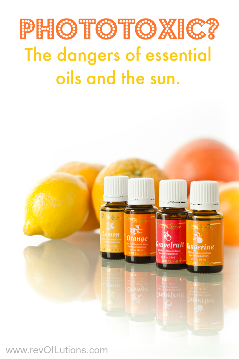 Phototoxic? The dangers of essential oils and the sun. Protect yourself from sunburn, blistering, swelling and more.