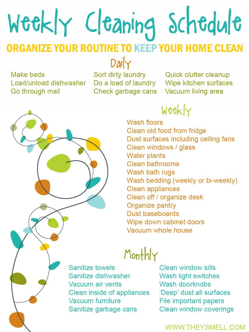 Weekly Cleaning Routine - Organize your routine to KEEP your home clean.
