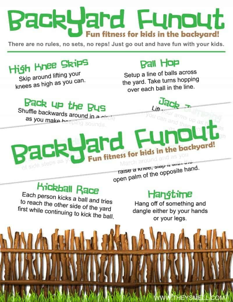 """Backyard Funout - Fun fitness or """"funness"""" for kids right in your own backyard."""