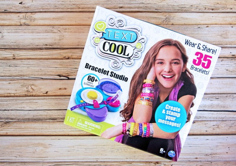 Cool Brands Text Cool Bracelet Studio lets girls make custom bracelets with messages and emoticons to wear and share with friends.