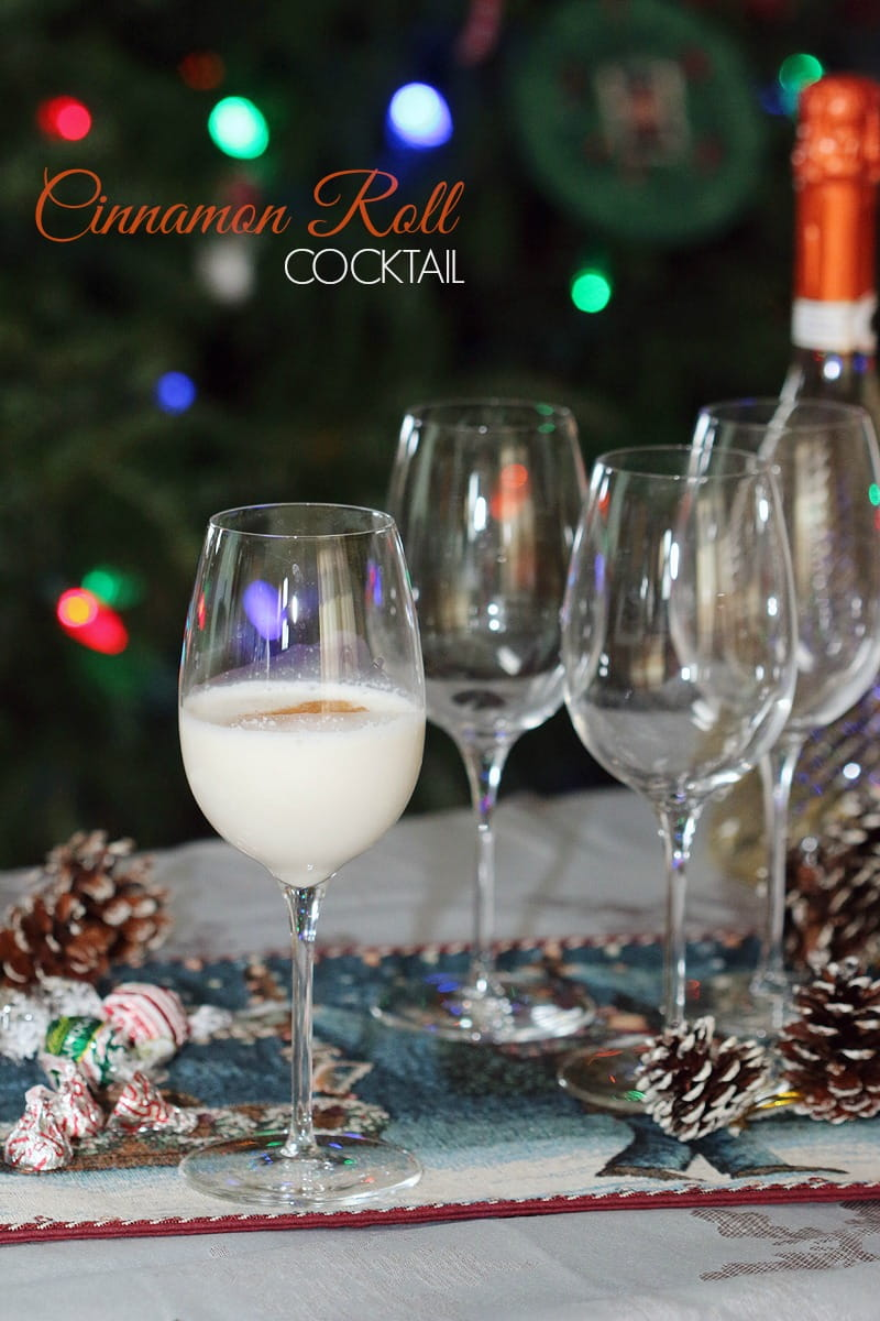 Make a Toast to Family this Holiday Season - Cinnamon Roll Cocktail Recipe