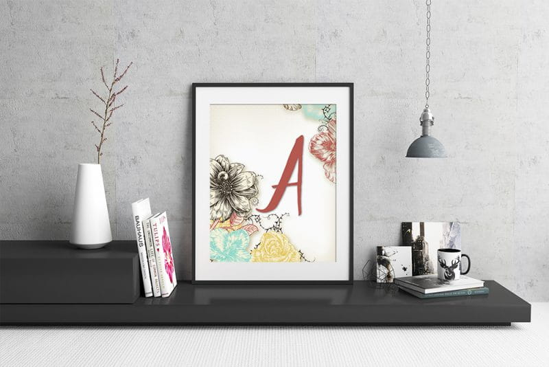 Add some flair to your space with this FREE spring inspired floral monogram printable / framable.