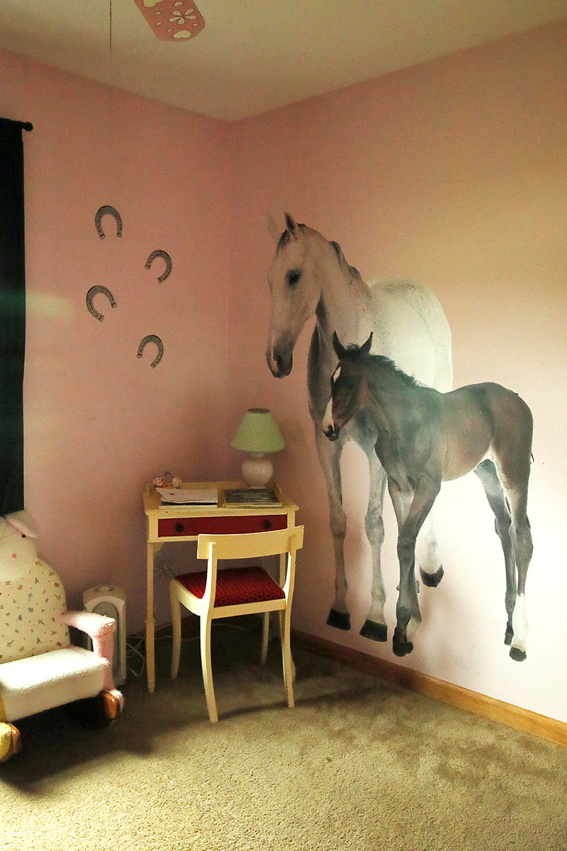 Easy Wall Art Ideas to Decorate Your Space - Removable, re-positionable wall decals add affordable character to any room.