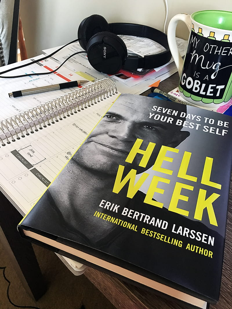 Hell Week - Seven Days to be Your Best Self: written by world-renowned mental trainer Erik Bertrand Larssen, Hell Week is a military-inspired (but approachable) guide to making the lifestyle changes necessary for long-term professional and personal success and improvement.