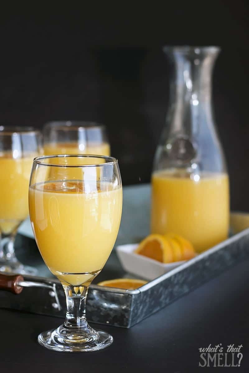 Orange Juice Mint Sparkler - this easy to make sparkler is a refreshing spin on your morning OJ (alcohol-free).