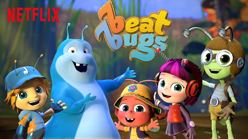Beat Bugs, the new Netflix original series is inspired by the music of the Beatles for multi-generational family fun. The main characters are five charming and energetic bug-like creatures who experience kid-friendly story lines and includes the best music ever made -- recorded by today's top artists, including Jennifer Hudson, P!nk, Sia and Eddie Vedder.