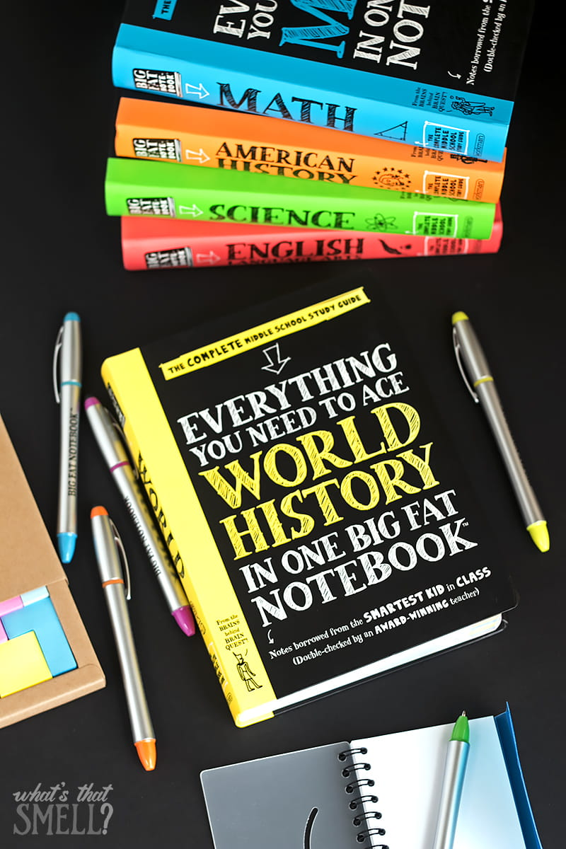 Help Your Middle Schooler Get Better Grades with Big Fat Notebooks - Big Fat Notebooks are like borrowing notes from the smartest kid in class. Each of the five subjects Math, Science, American History, English Language Arts, and World History helps make learning fun.