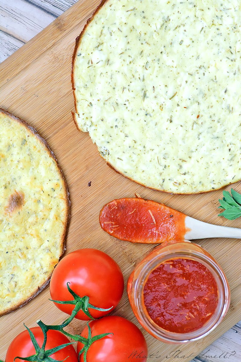 Low Carb Pizza Crust - you don't have to give up pizza when you follow a low carb or ketogenic diet! This crust is delicious and made without any form of flour.
