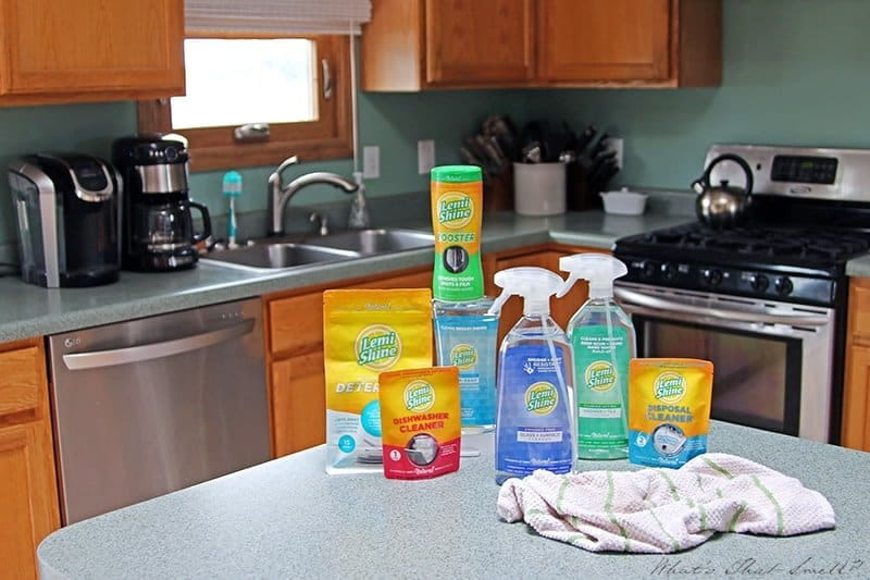 Lemi Shine products on a kitchen counter