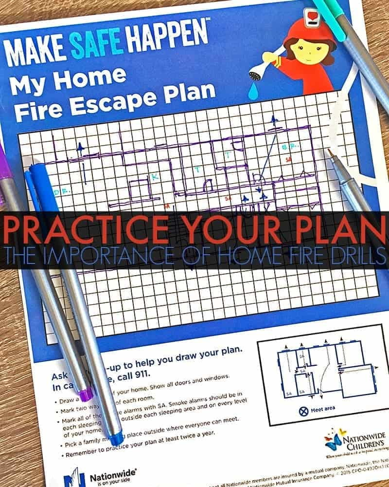 Practice Your Plan - The Importance of Home Fire Drills. Nearly 47% of parents don't have a plan in place in case of fire yet 9 in 10 structure fires happen in homes. Help protect your family by creating and practicing home fire drills.