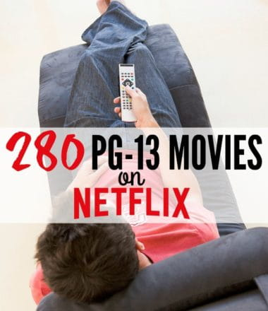 280 PG-13 Movies on Netflix: 280 age-appropriate PG-13 movies for teens on Netflix.