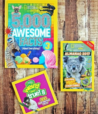 National Geographic Books - Gift Ideas for Little Brainiacs. Do you have a kid who just can't get enough information about the way the world works? These books make a fantastic Christmas gift!