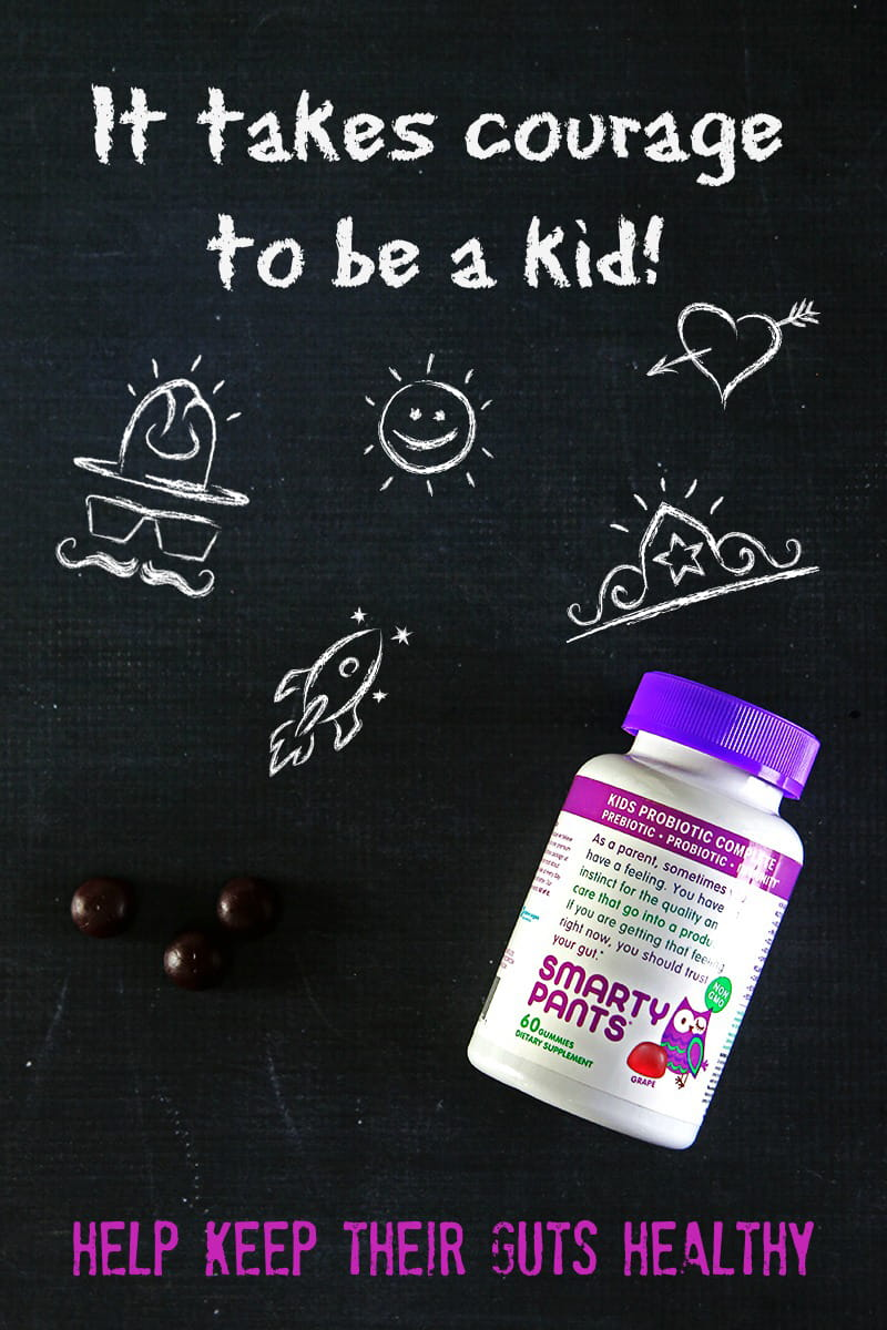 It Takes Courage to Be a Kid - Help Keep Their 'Guts' Healthy. Kids do a lot of things every day and their growing bodies are constantly being barraged with things that challenge them. SmartyPants Kids Probiotic Complete has the healthy ingredients they need with the taste they will love.