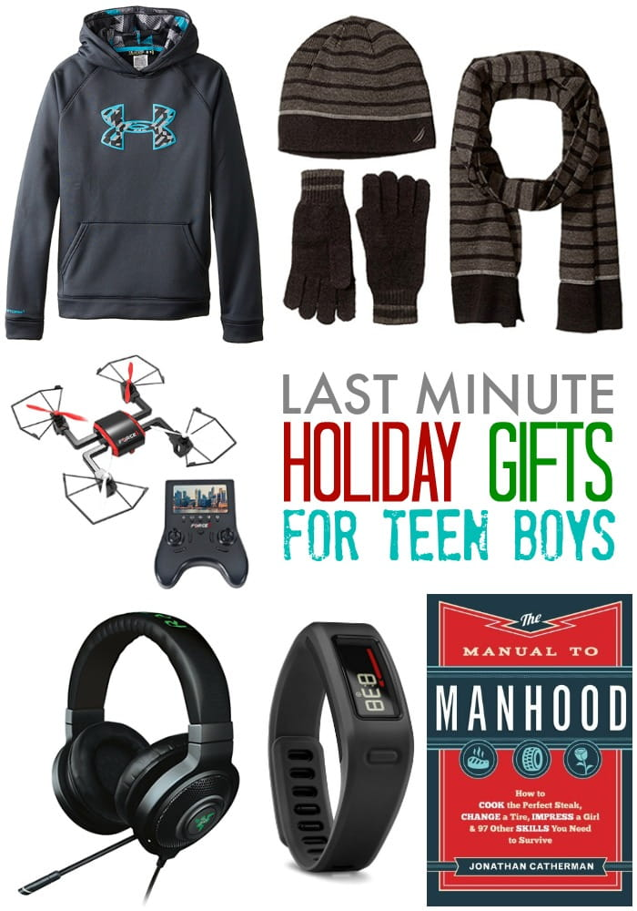 Last Minute Holiday Gifts for Teen Boys - the elusive teen boy and their mysterious ways can make gift shopping nearly impossible. Try a few of these can't-miss gift ideas.