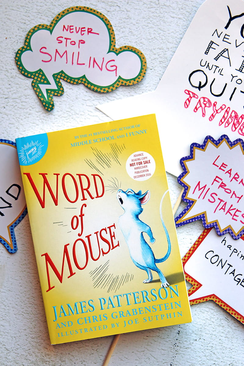 Word of Mouse Middle-Grade Book by James Patterson is a book for kids ages 8-12. It tells the story of a very special mouse, and the unexpected friendships that he makes along the way