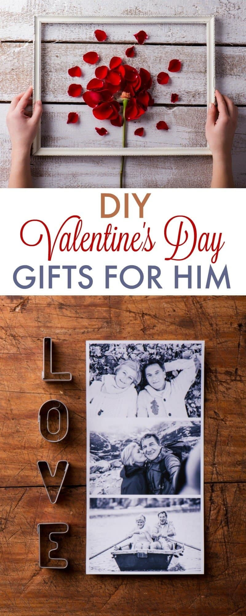 Make your guy something special with these DIY Valentine's Day gifts for boyfriend, husband or significant other. Cute ideas for a special romantic day!
