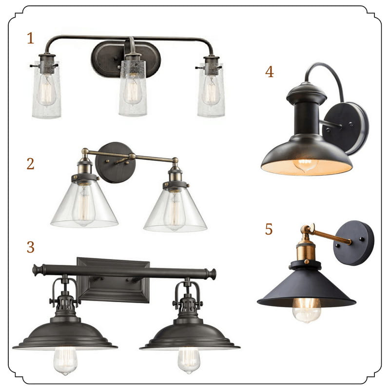 A list of 20 industrial lights under $200 available on Amazon, including wall mount, outdoor and pendant fixtures.