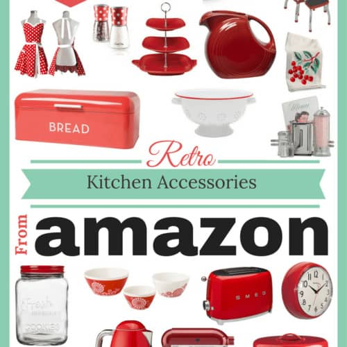 Fabulous Retro kitchen accessory finds from Amazon in bright red