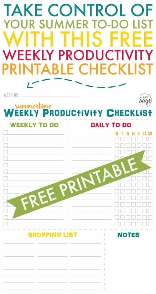 Master your summer to-do list with these tips for productive mornings & a free printable weekly productivity checklist so you can enjoy your summer!