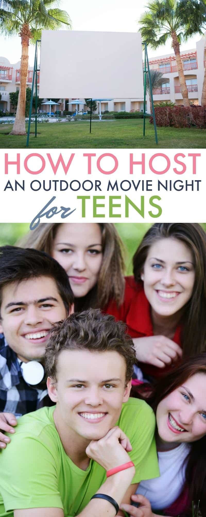 Get teens out of the house and off their phones for a little bit with these tips for How to Host an Outdoor Movie Night for Teens with Netflix PG-13 Movies.