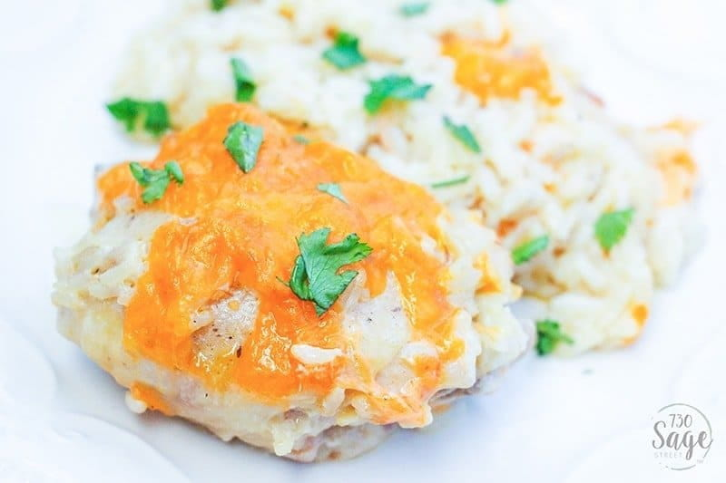 This easy cheesy chicken and rice bake is the <a href=
