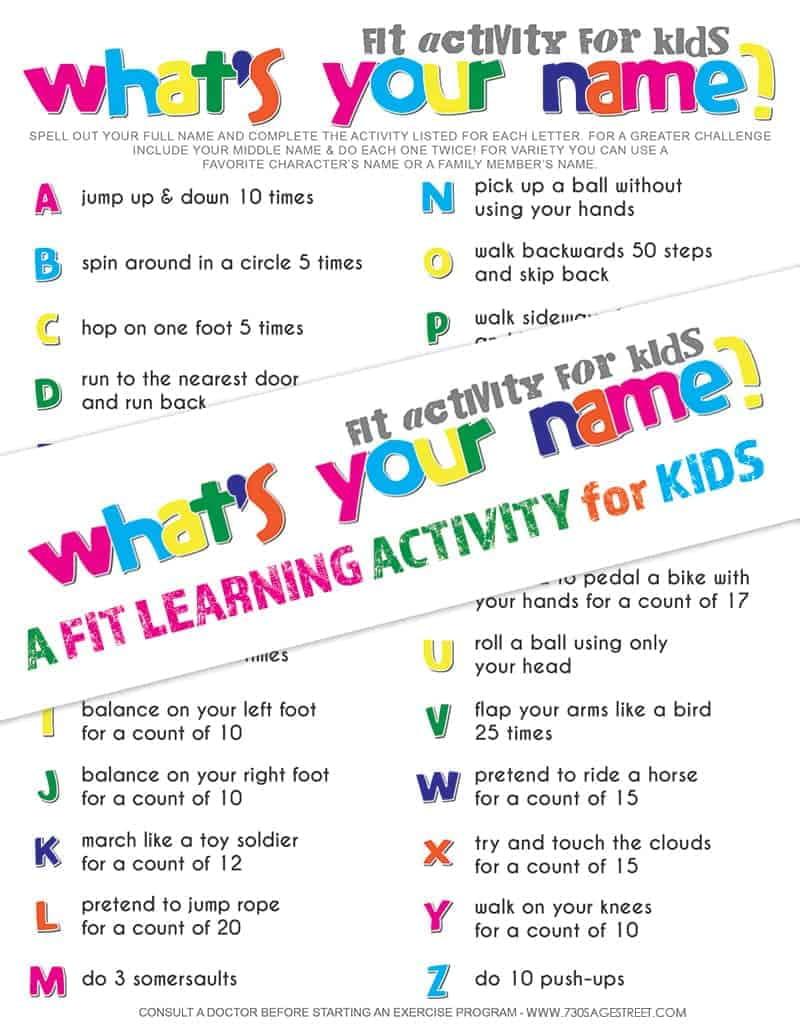 Fit Learning Activity for Kids