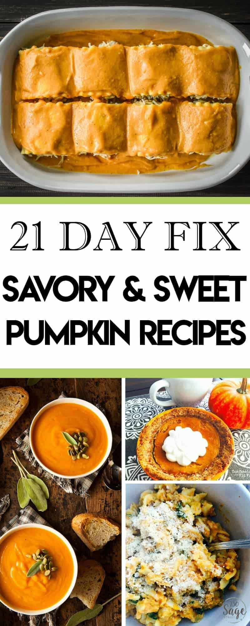 Enjoy the Thanksgiving and Christmas holidays without guilt with these delicious 21 Day Fix pumpkin recipes. Savory and sweet options!