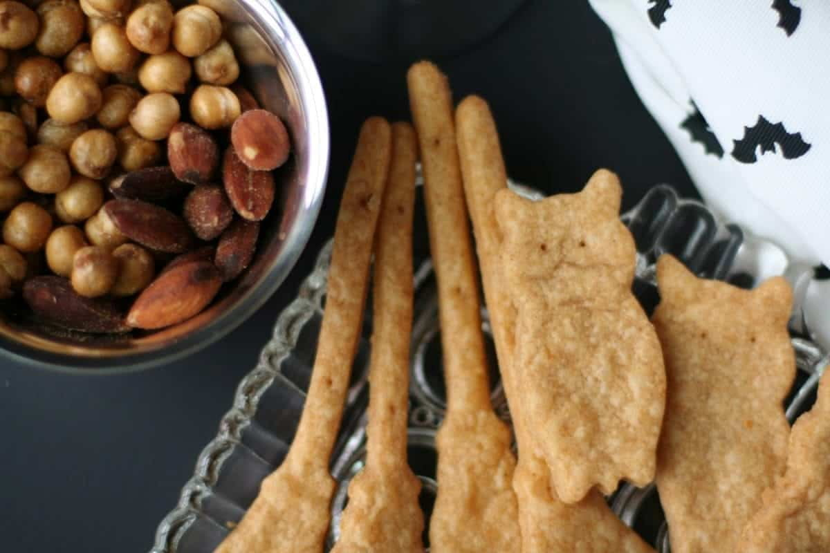 Cinnamon chipotle butter gives these simple, spooky spicy crackers a smoky sweet flavor. Perfect to pair with your favorite Halloween cocktail.
