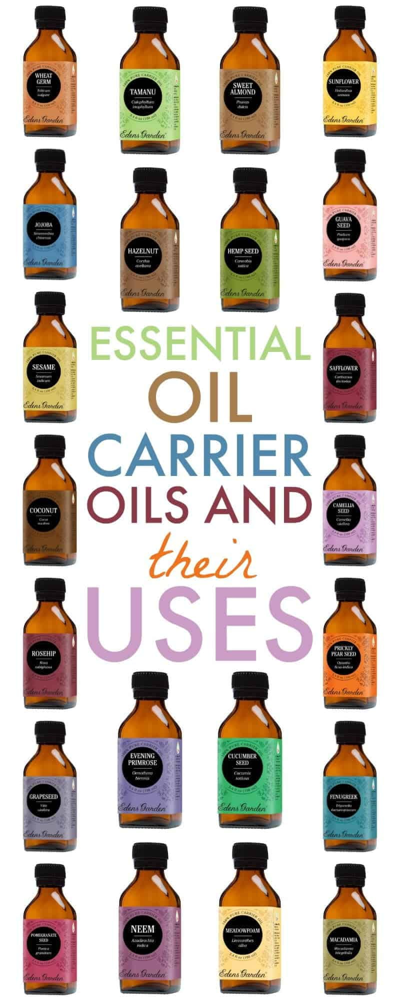This list of essential oil carrier oils and their uses will help you choose which carrier oil will work best for your needs and skin type.