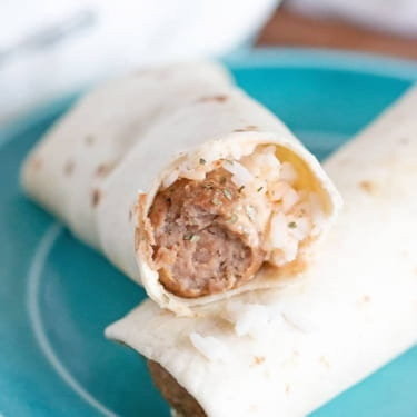 Easy Korean BBQ Meatball Wraps